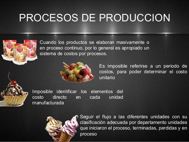 Ordenes de produccion y proceso productivo for Procesos de produccion de alimentos