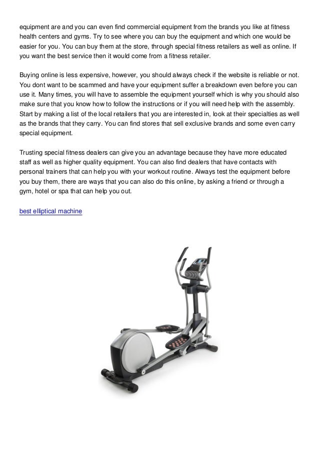 Elliptical Trainer: Where Can You Buy An Elliptical