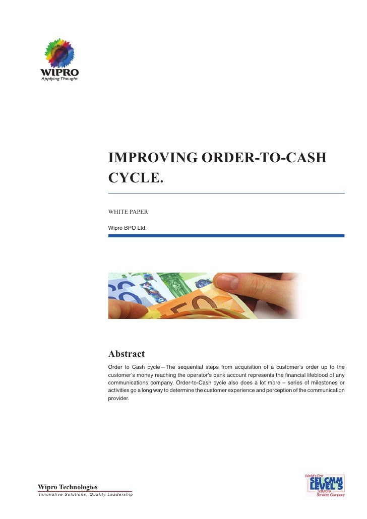 IMPROVING ORDER-TO-CASH CYCLE.