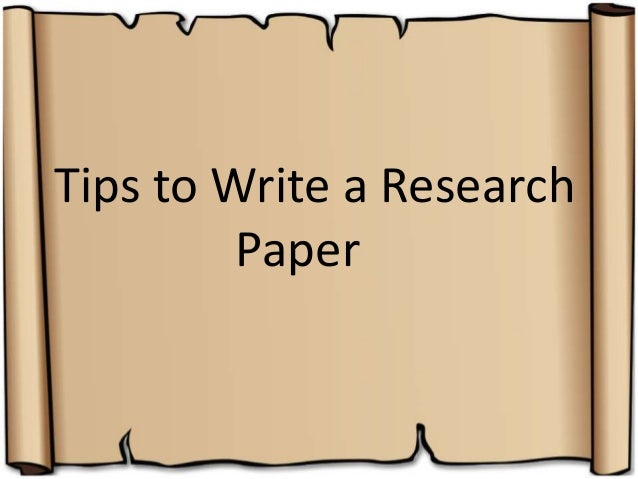 begin writing a research paper