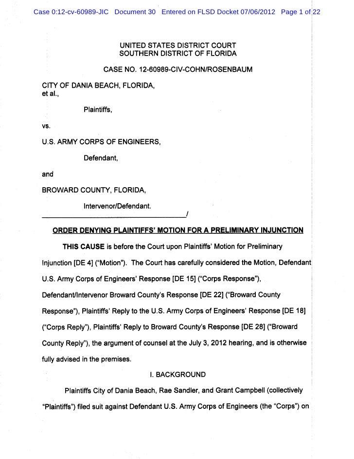 Case 0:12-cv-60989-JIC Document 30 Entered on FLSD Docket 07/06/2012 Page 1 of 22                         UNITED STATES DI...