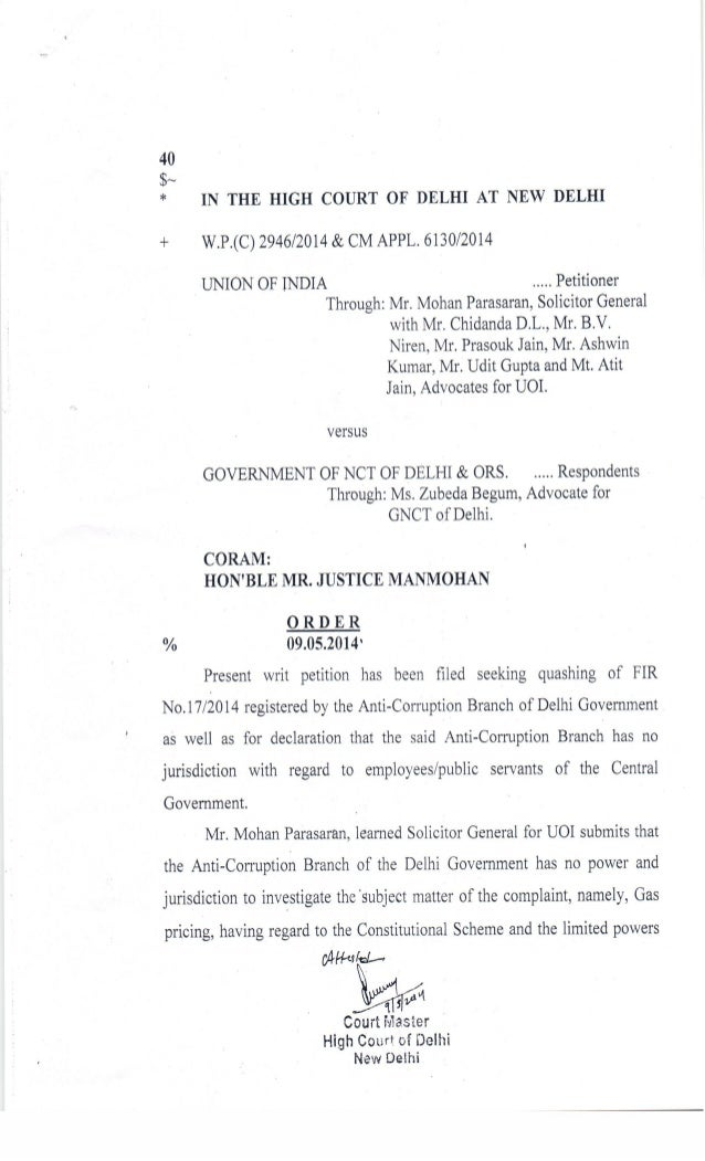 Delhi HC's order in GOI's petition seeking quashing of Kejriwal's FIR