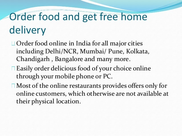 Online Home Food Delivery In Bangalore