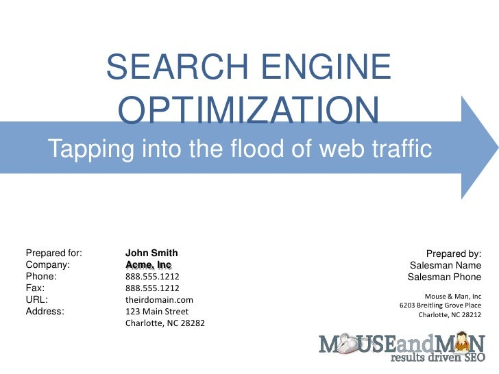 seo sales quote and order form