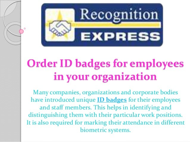 order id badges for employees in your organization