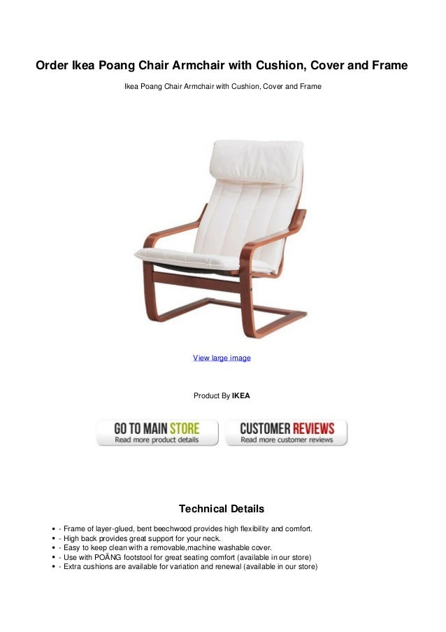 Order Ikea Poang Chair Armchair With Cushion Cover And Frame