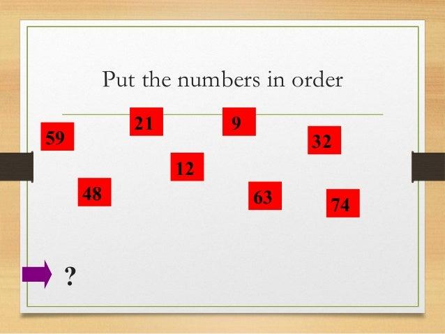 Ordering Numbers Powerpoint