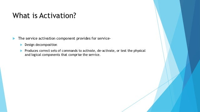 what is activation