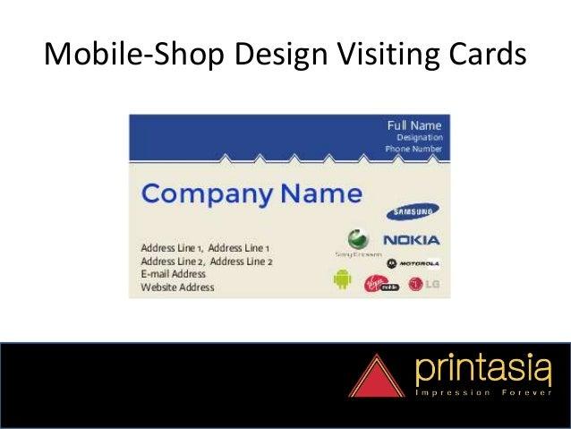 Order mobile shop visiting cards online for Shop mobili online