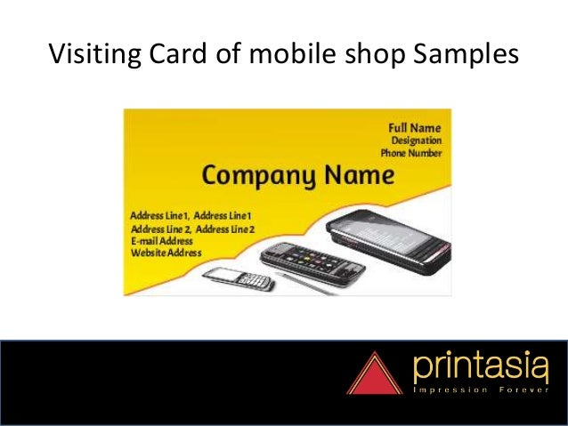 Order mobile shop visiting cards online business card samples 2 reheart Image collections