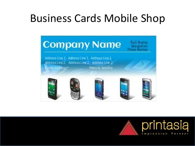 Order mobile shop visiting cards online reheart Choice Image