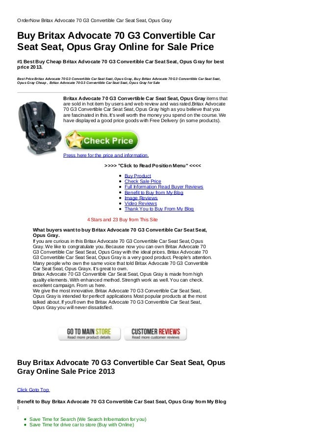 Order Now Britax Advocate 70 G3 Convertible Car Seat Opus Gray Click To Read Position Menu Buy
