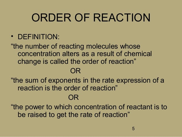 the change in concentration and the rate of reaction essay Definition of reaction rate, and examples of calculating the average rate of  rate  of reaction by measuring the rate of increase in concentration of products or the.