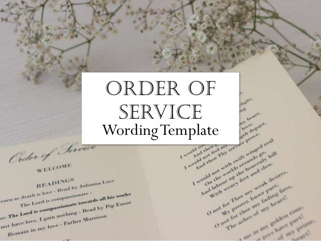 Wedding Order of service - What to include in your wedding program