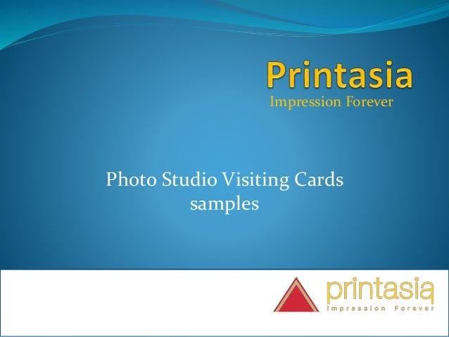 Impression Forever Photo Studio Visiting Cards samples