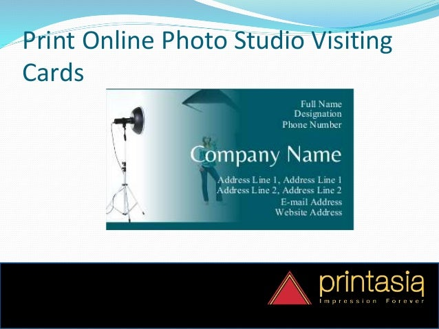 Order online business card photo studio printasia photo studio visiting card design samples online 3 reheart Choice Image