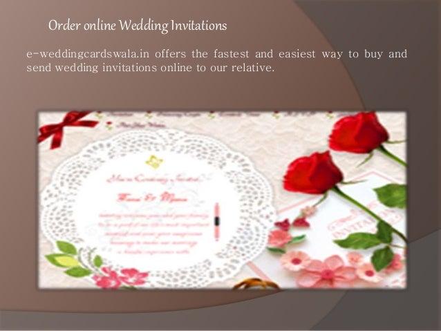 Order Online Wedding Invitations