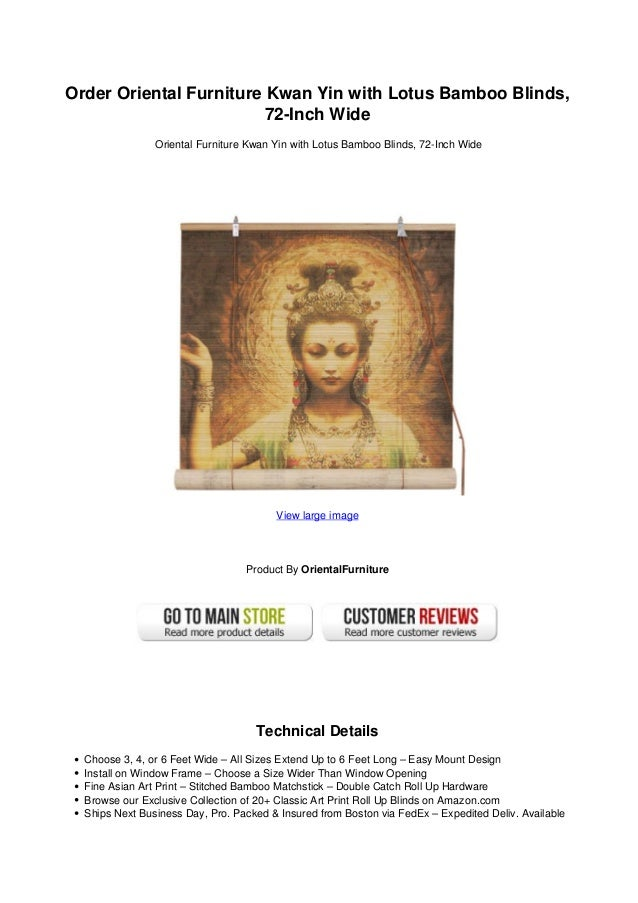 72 inch wide blinds order oriental furniture kwan yin with lotus bamboo blinds72inch wideoriental oriental furniture kwan yin lotus bamboo blinds 72 inch wiu2026