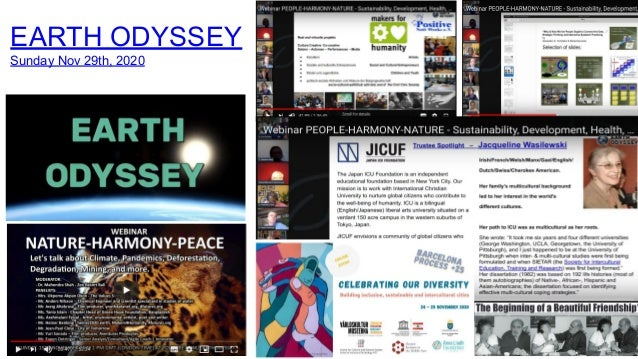 EARTH ODYSSEY Sunday Nov 29th, 2020