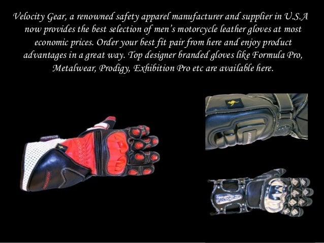 Order the best fit branded motorcycle leather gloves at cost effective prices from velocity gear Slide 2
