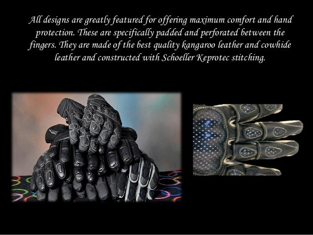 Order the best fit branded motorcycle leather gloves at cost effective prices from velocity gear Slide 3