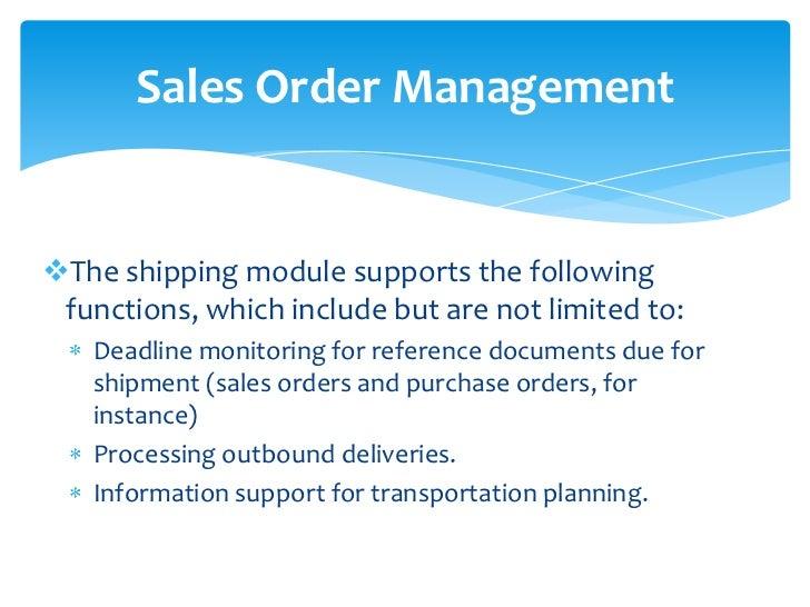 sap order management resume