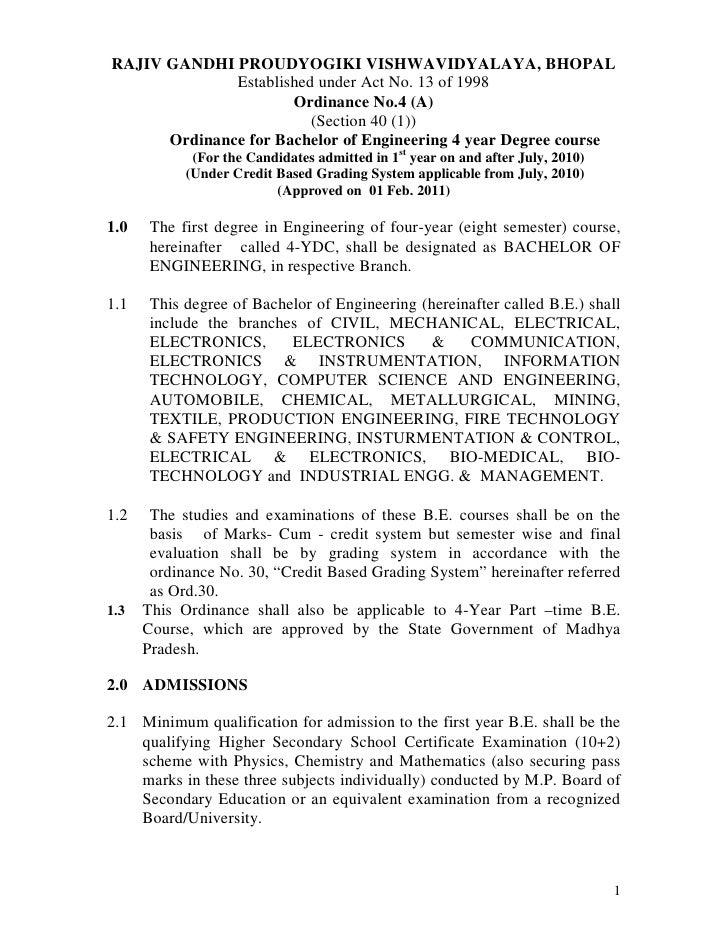 RAJIV GANDHI PROUDYOGIKI VISHWAVIDYALAYA, BHOPAL              Established under Act No. 13 of 1998                      Or...
