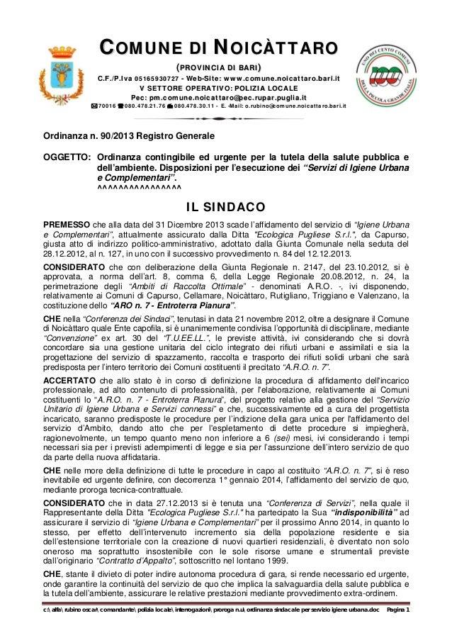 COMUNE DI NOICÀTTARO (PROVINCIA DI BARI)  C.F./P.Iva 05165930727 - Web-Site: www.comune.noicattaro.bari.it www.comune.noic...
