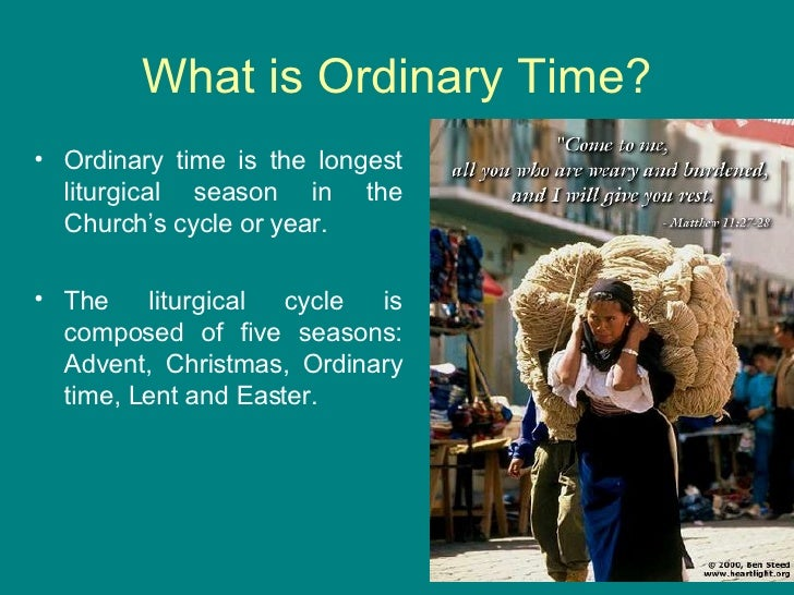 When is Ordinary Time?