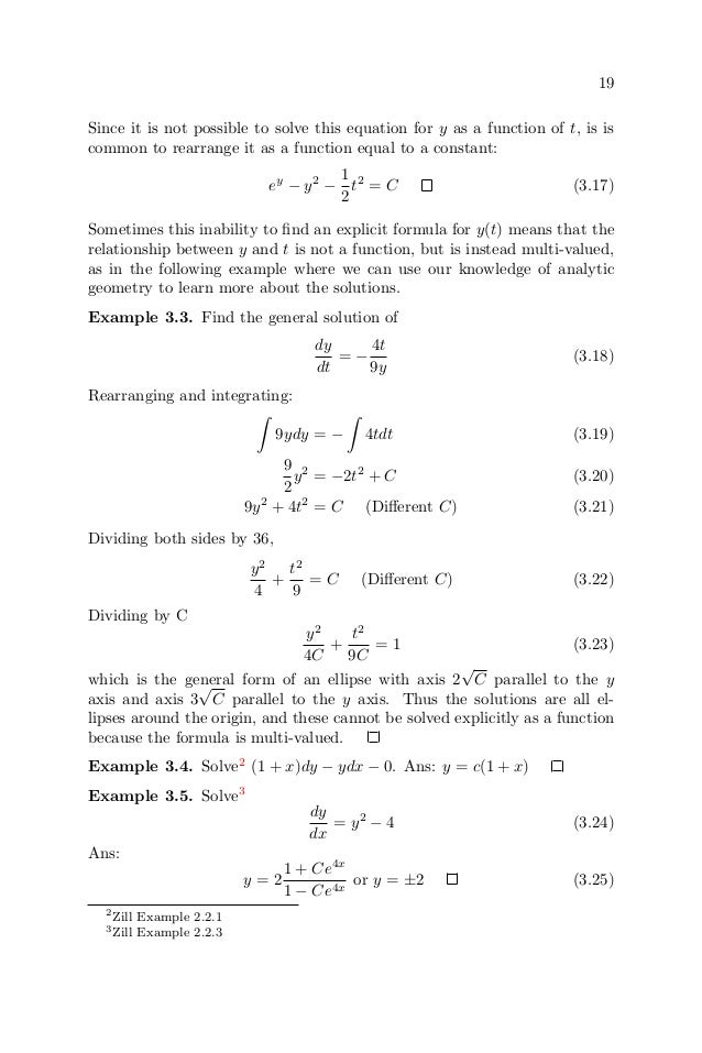 Ordinary differential equations – Separable Differential Equations Worksheet