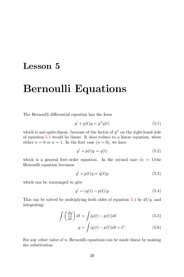 bernoulli 39 s equation example. bernoulli 39 s equation example