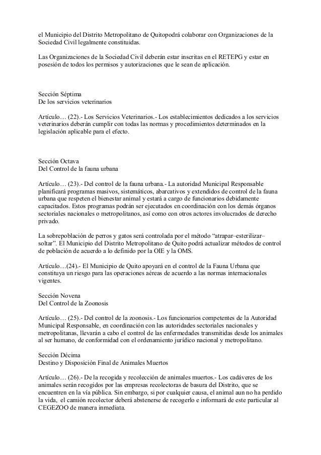 el Municipio del Distrito Metropolitano de Quitopodrá colaborar con Organizaciones de laSociedad Civil legalmente constitu...
