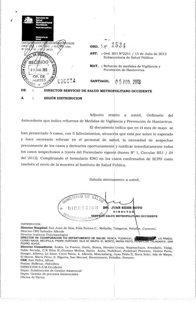 Ord  nº 1534  ssmo  refuerzo vigilancia y prevencion hantavirus agosto 2013