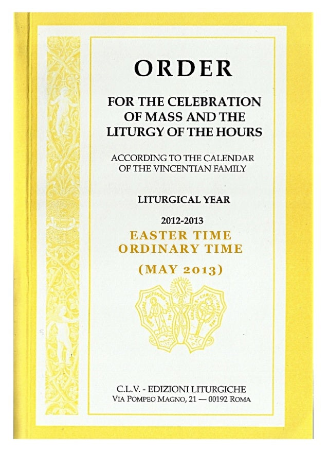 EASTER TIMEORDINARY TIME(MAY 2013)