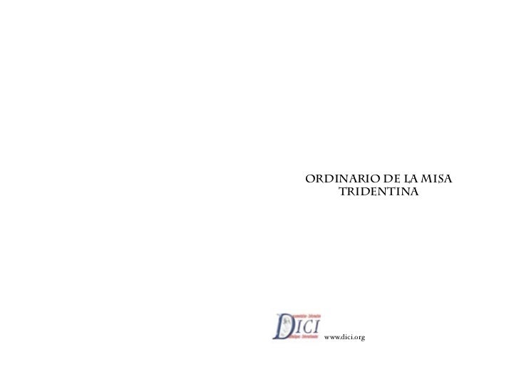 ordinario de la Misa    tridentina  www.dici.org