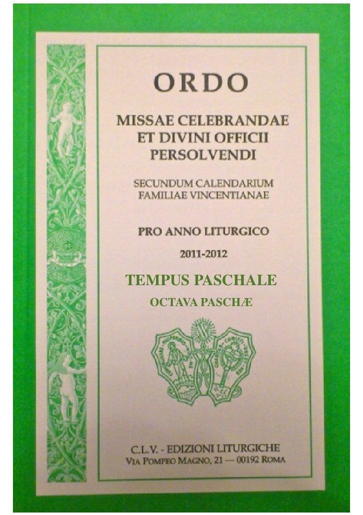 TEMPUS PASCHALE  OCTAVA PASCHÆ