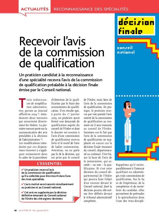 LA LETTRE NO 134 Janvier201518 Troisordonnan ces de simplifica tion administra tive, parues au Journal officiel en 2...