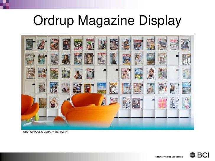 Ordrup Magazine Display<br />ORDRUP PUBLIC LIBRARY, DENMARK<br />