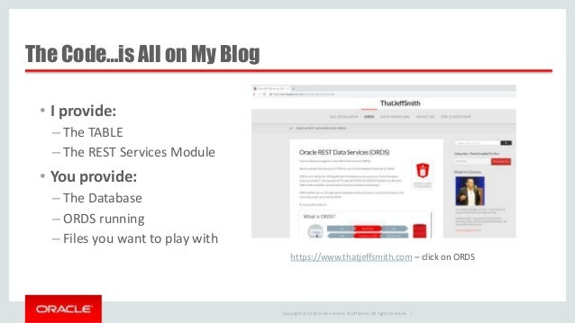 Build a Web Service to Up and Download Files for Oracle Database