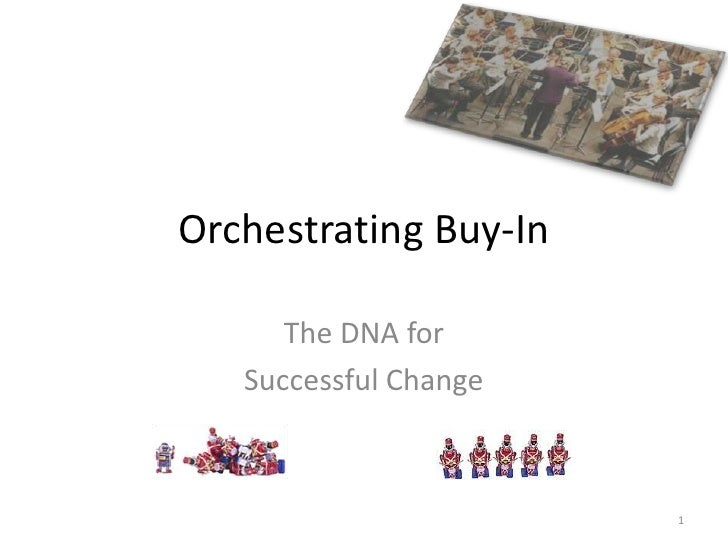 Orchestrating Buy-In<br />The DNA for<br />Successful Change<br />1<br />