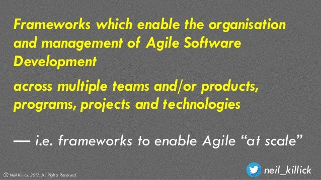 Why scaled agile frameworks exist and why you don't need them Slide 3