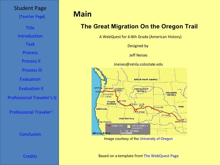 Main Student Page Title Introduction Task Process Evaluation Conclusion Credits [ Teacher Page ] A WebQuest for 6-8th Grad...