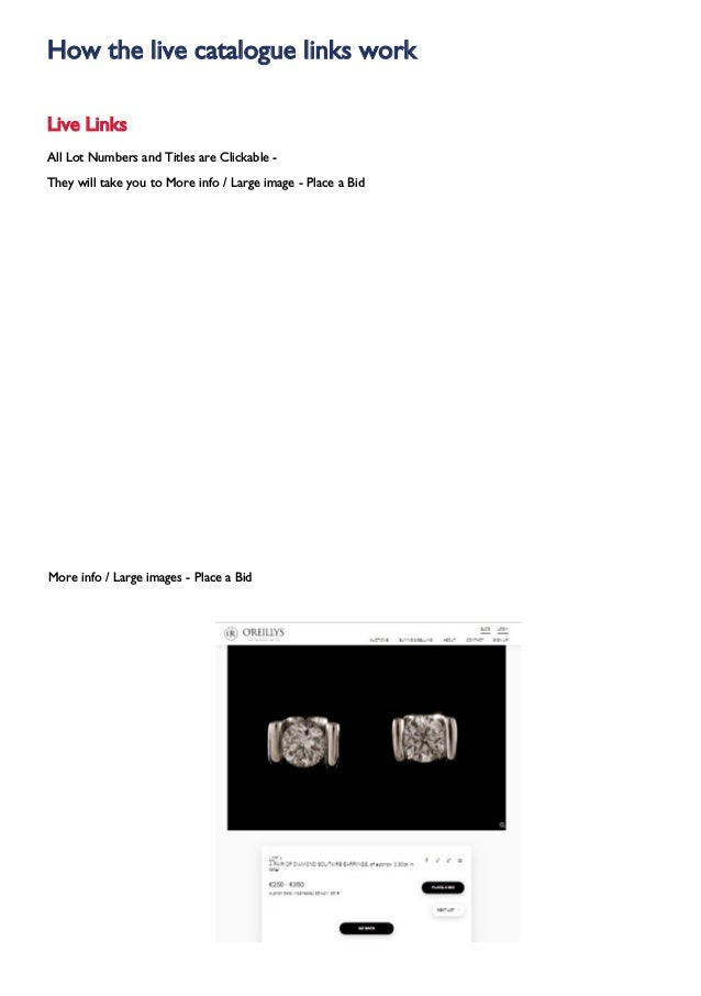 Oreillys Fine Jewellery Watches & Silver Auction Wednesday, 22nd May …