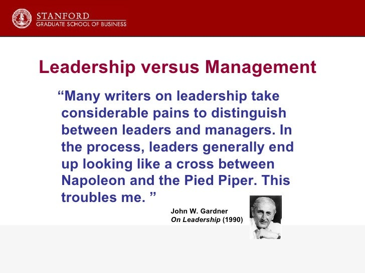 Differences between leadership and management essay