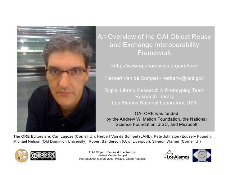 An Overview of the OAI Object Reuse                                                    and Exchange Interoperability      ...