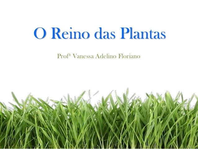 O Reino das Plantas Profª Vanessa Adelino Floriano