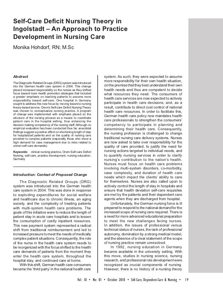 nursing theory and caring essay The application of watson's caring theory in nursing administration joko gunawan faculty of nursing, chulalongkorn university introduction jean watson's theory of human caring is a grand theory that contributes to the existential side of nursing.