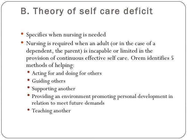 dorothea orem nursing theory essay