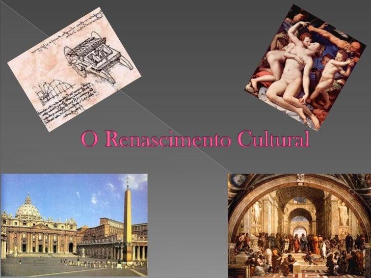 O renascimento foi uma transformação na      forma de ver o mundo , por artistas , filósofos e escritores , ocorrida na Id...