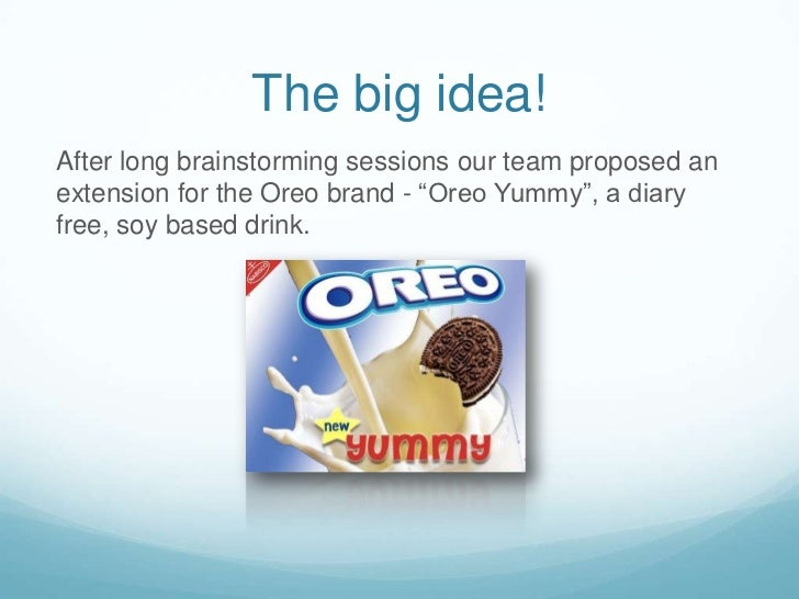 """The big idea!<br />After long brainstorming sessions our team proposed an extension for the Oreo brand - """"Oreo Yummy"""", a d..."""